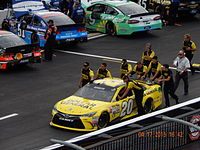 Kenseth's pole and race winning car at Bristol in 2015