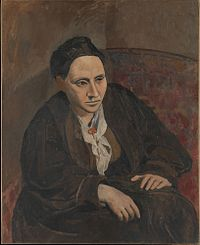 "Pablo Picasso, Portrait of Gertrude Stein, 1906, Metropolitan Museum of Art, New York. When someone commented that Stein didn't look like her portrait, Picasso replied, ""She will."" Stein wrote ""If I Told Him: A Completed Portrait of Picasso"" (1923) in response to the painting."