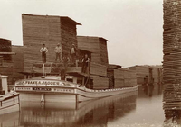 The Albany Lumber District was home to the largest lumber market in the nation in 1865.