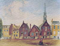 North Pearl Street from Maiden Lane North by James Eights, circa 1805