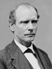 Amos T. Akerman, appointed Attorney General by Grant, who vigorously prosecuted the Ku Klux Klan. Brady–Handy date unknown