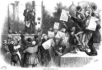 """Grant is congratulated for vetoing the """"inflation bill"""" in 1874."""