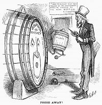 Harper's Weekly cartoon on Bristow's Whiskey Ring investigation