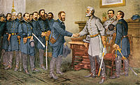 Surrender of General Lee to General Grant at Appomattox Court House