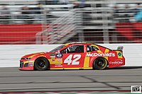 Kyle Larson won the first stage.