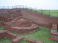 Harsha Ka Tila mound west of Sheikh Chilli's Tomb complex, with ruins from the reign of 7th century ruler Harsha.