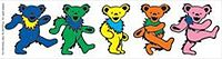 """Owsley """"Bear"""" Stanley wrote that the """"dancing bears"""" designed by Bob Thomas for History of the Grateful Dead, Volume One (Bear's Choice) are marching, not dancing."""