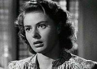 Bergman as Ilsa Lund in Casablanca, her most famous role.