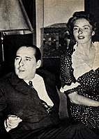 Rossellini and Bergman in 1953, a scandal that rocked Hollywood