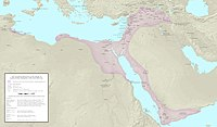 Ayyubid Sultanate (in pink) at the death of Saladin in 1193