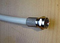 Coaxial cable is used to carry cable television signals into cathode ray tube and flat panel television sets.