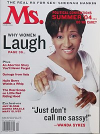 Sykes on the cover of Ms. magazine in 2004