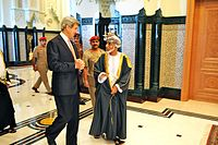 U.S. Secretary of State John Kerry meets with Sultan Qaboos in Muscat, May 2013.