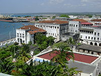 The Sultan's Palace in Zanzibar, which was once Oman's capital and residence of its sultans