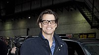 Carrey walking in to the Ed Sullivan Theater, venue for the Late Show with David Letterman, in 2010