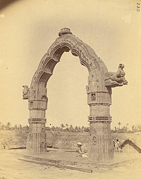 The Dola Mandapa in 1890 where the annual Dol Yatra is held.