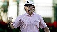 Brandt Snedeker reacting to winning the FedEx Cup at the 2012 Tour Championship