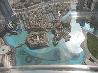 View of The Dubai Fountain from the observation deck