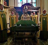 After the relics display in the Chapel of the Sacred Heart