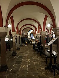 Exhibition of icons in the crypt of Our Lady's