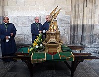 Before the relics display in St Servatius'