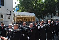 During the procession at Grote Looiersgracht, 2011