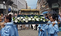 Girdle of Saint Mary during the procession in Wyck