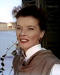 """In David Lean's romantic drama Summertime (1955). Jane Hudson is one of the popular """"spinster"""" roles Hepburn played in the 1950s."""
