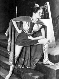 Hepburn in the 1932 role that brought her to the attention of Hollywood, The Warrior's Husband