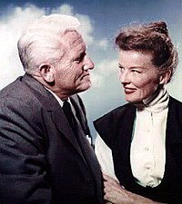 Spencer Tracy and Hepburn in a publicity photo for Desk Set