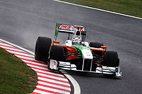 Sutil during practice for the 2009 Japanese Grand Prix