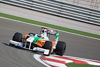 Sutil driving for Force India at the 2009 Turkish Grand Prix