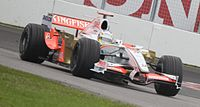 Sutil driving for Force India at the 2008 Canadian Grand Prix