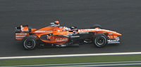 Sutil driving a Spyker F8-VII at the 2007 French Grand Prix