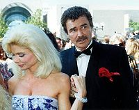 Reynolds and Loni Anderson at the 43rd Primetime Emmy Awards in 1991