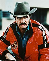 Reynolds in 1980 wearing the Bandit jacket used in Smokey and the Bandit II