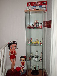 A display of Betty Boop collectibles