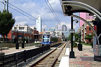 The Blue Line's Bland Street Station in Charlotte's SouthEnd neighborhood