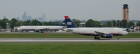 Charlotte-Douglas International Airport with the Uptown Charlotte skyline in the background