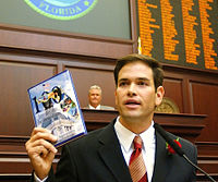 """Then Speaker-Designate Rubio, challenging House colleagues to help write """"100 Innovative Ideas For Florida's Future"""", September 2005"""