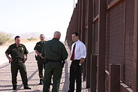 Touring the US-Mexican border in November 2011 with Border Patrol officials