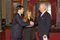 Rubio, and wife Jeanette, just after being sworn as a U.S. senator by Vice President Joe Biden. January 2011