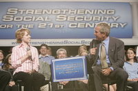 President George W. Bush discussing Social Security in 2005