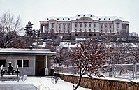 Tajbeg Palace in 1987, the Soviet Army headquarters during the Soviet–Afghan War