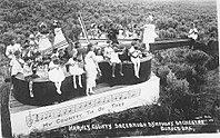The Sagebrush Symphony, an early incarnation of the Portland Youth Philharmonic, performing in Burns c.undefined 1916