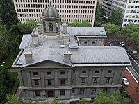 Built in 1869, Pioneer Courthouse (pictured) is the oldest federal building in the Pacific Northwest