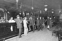 The White Eagle Saloon (c. 1910), one of many in Portland that had reputed ties to illegal activities such as gambling rackets and prostitution