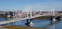 The 2015-opened Tilikum Crossing attracted national attention for being a major bridge open only to transit vehicles, cyclists and pedestrians, and not private motor vehicles.