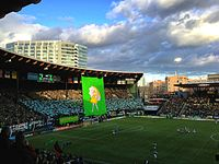 Providence Park, home of the Portland Timbers and the Portland Thorns
