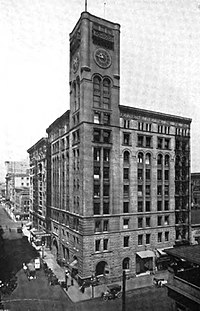 The Oregonian Building of 1892, which no longer stands